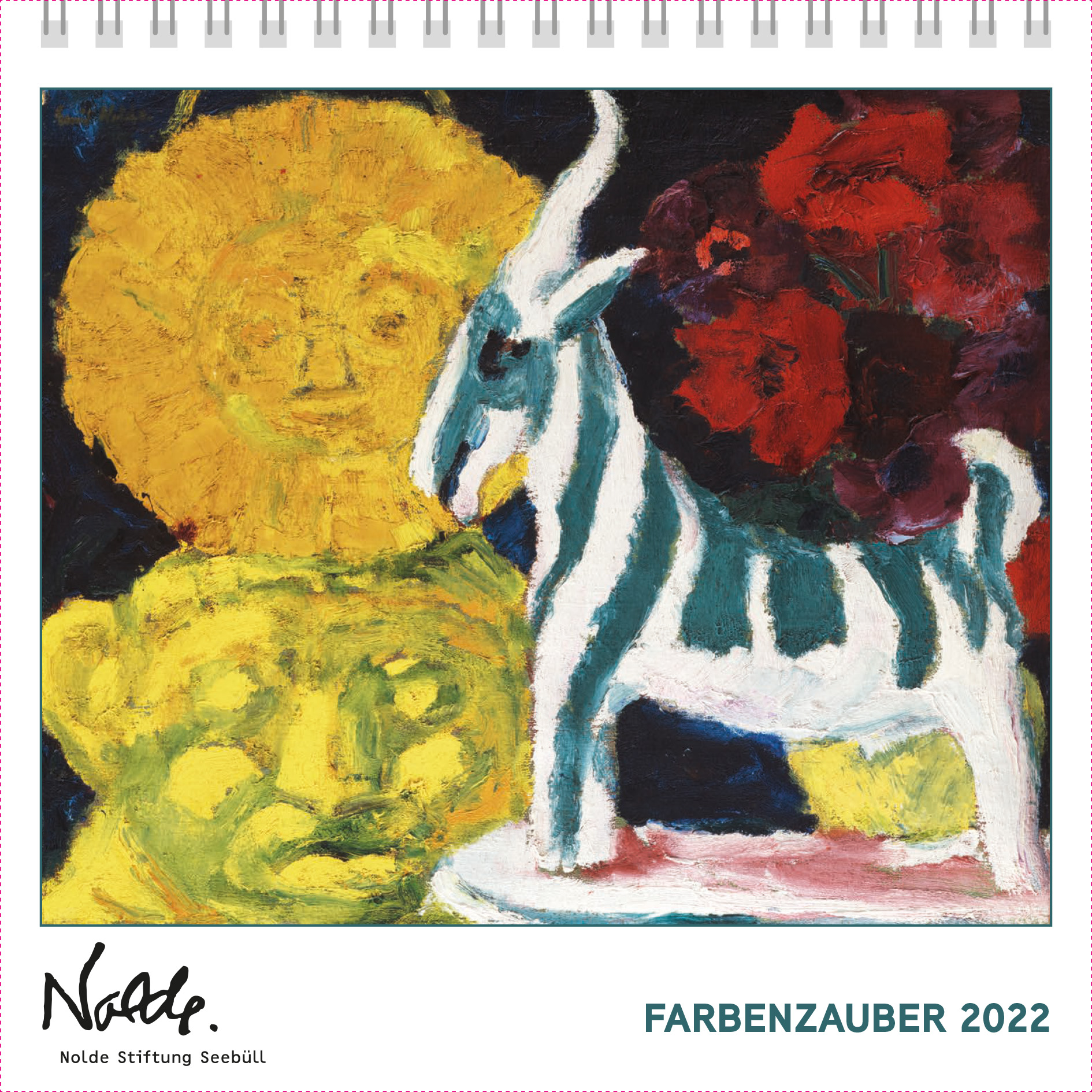 Postkartenkalender Nolde. Farbenzauber 2022