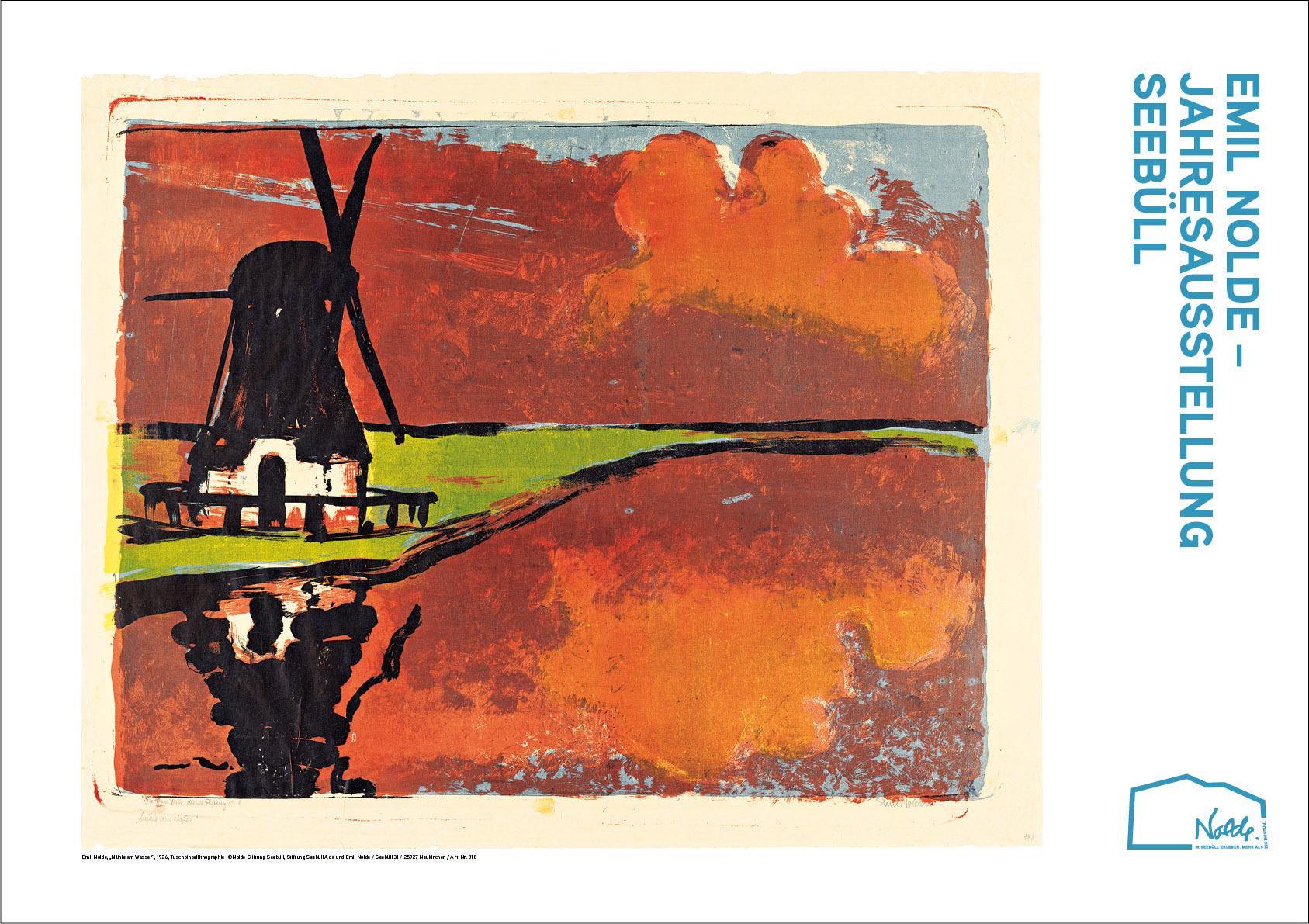 """Plakat """"Mühle am Wasser"""""""
