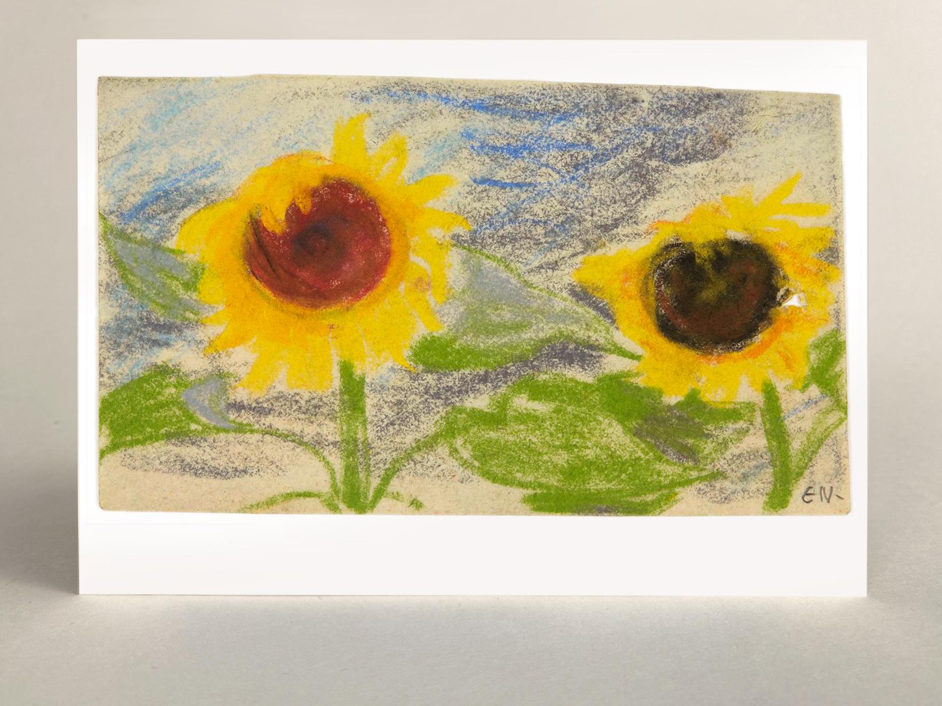 """Kunstkarte """"Zwei gelbe Sonnenblumen"""""""