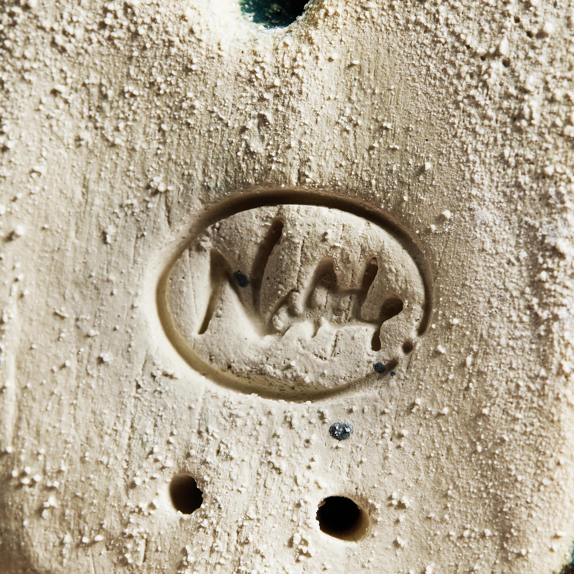 """Keramik """"Lilafarbene Seebüller Kuh"""""""