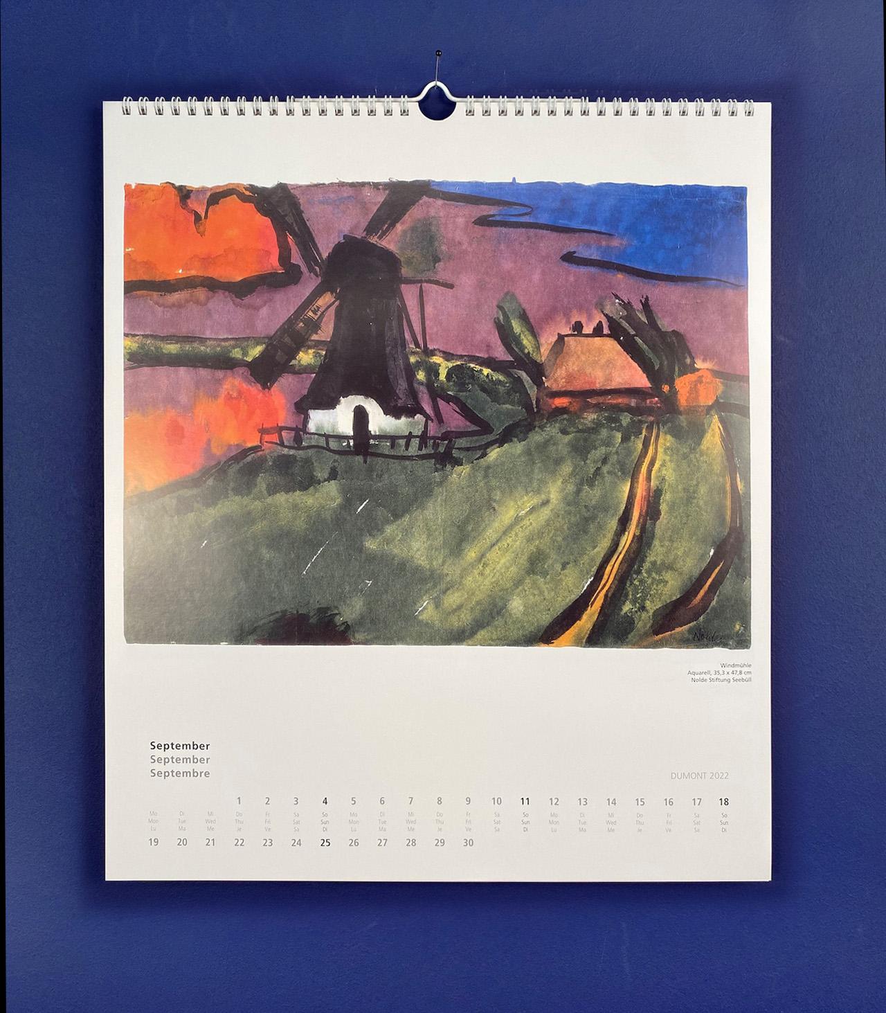 Kalender Nolde. Ein DuMont-Kalender für das Jahr 2022