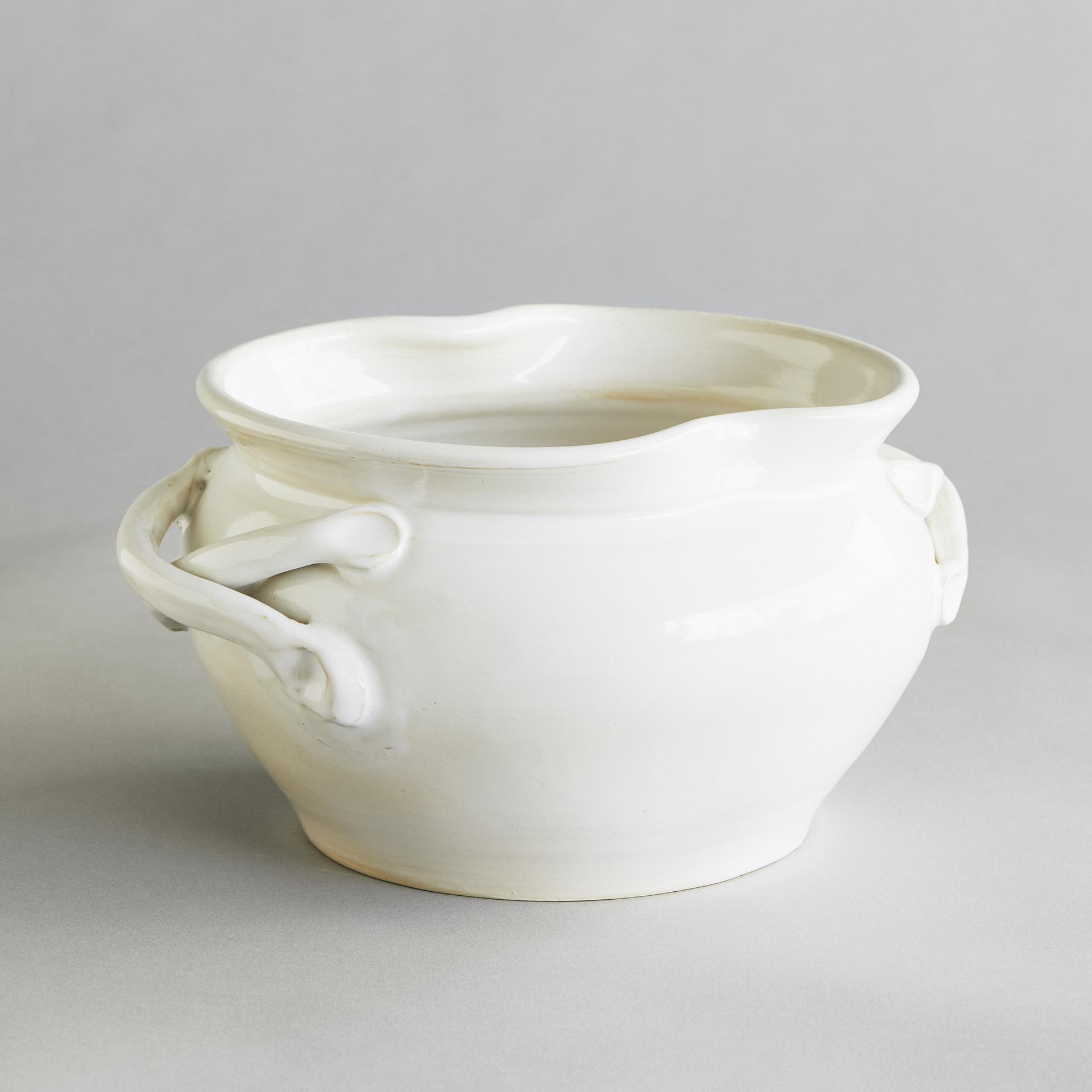 "Keramik ""Noldes weißer Malertopf"""