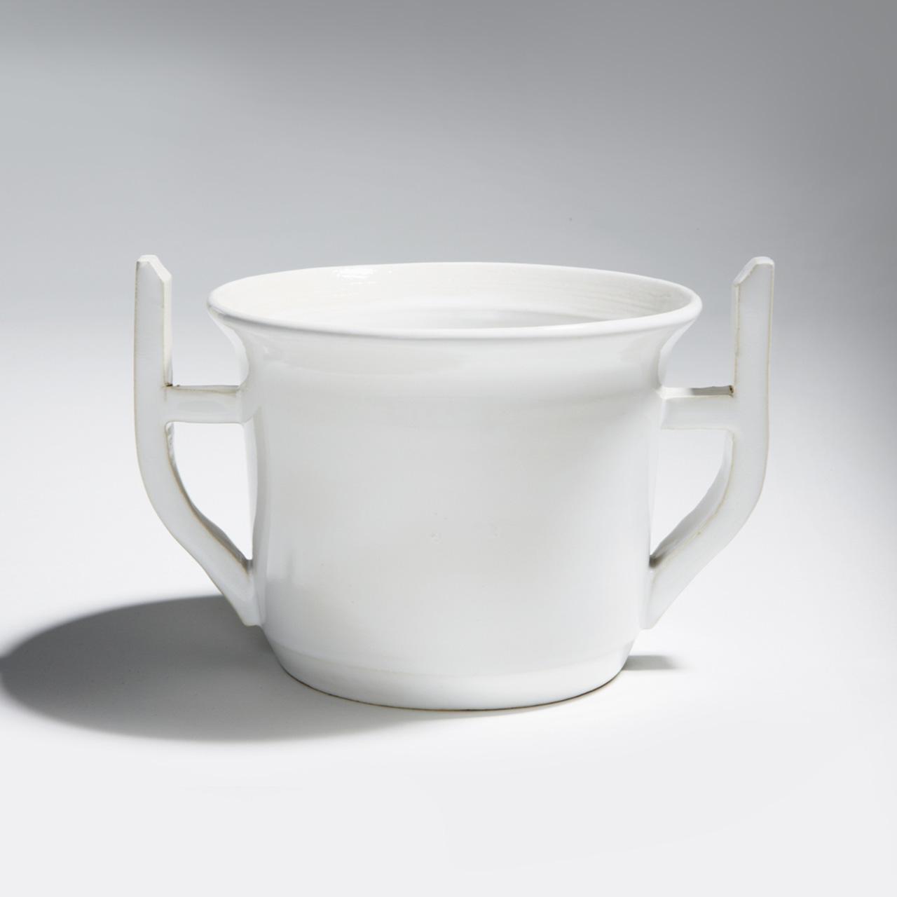 "Keramik ""Noldes weißer Blumentopf"""