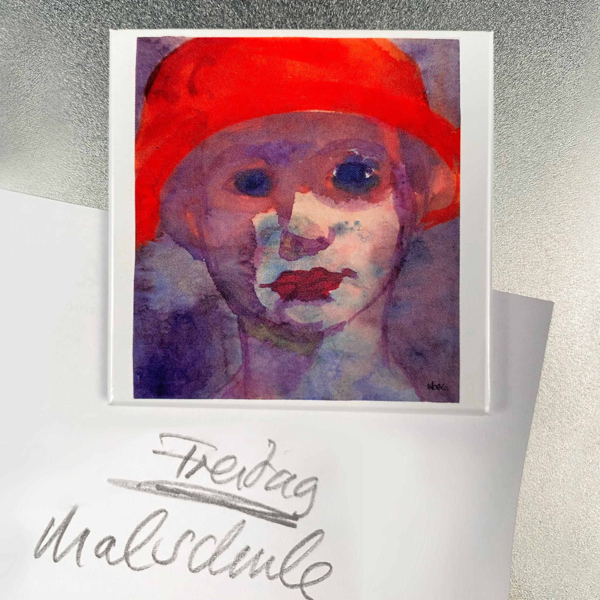 "Nolde-Magnet ""Mädchen mit rotem Hut"""