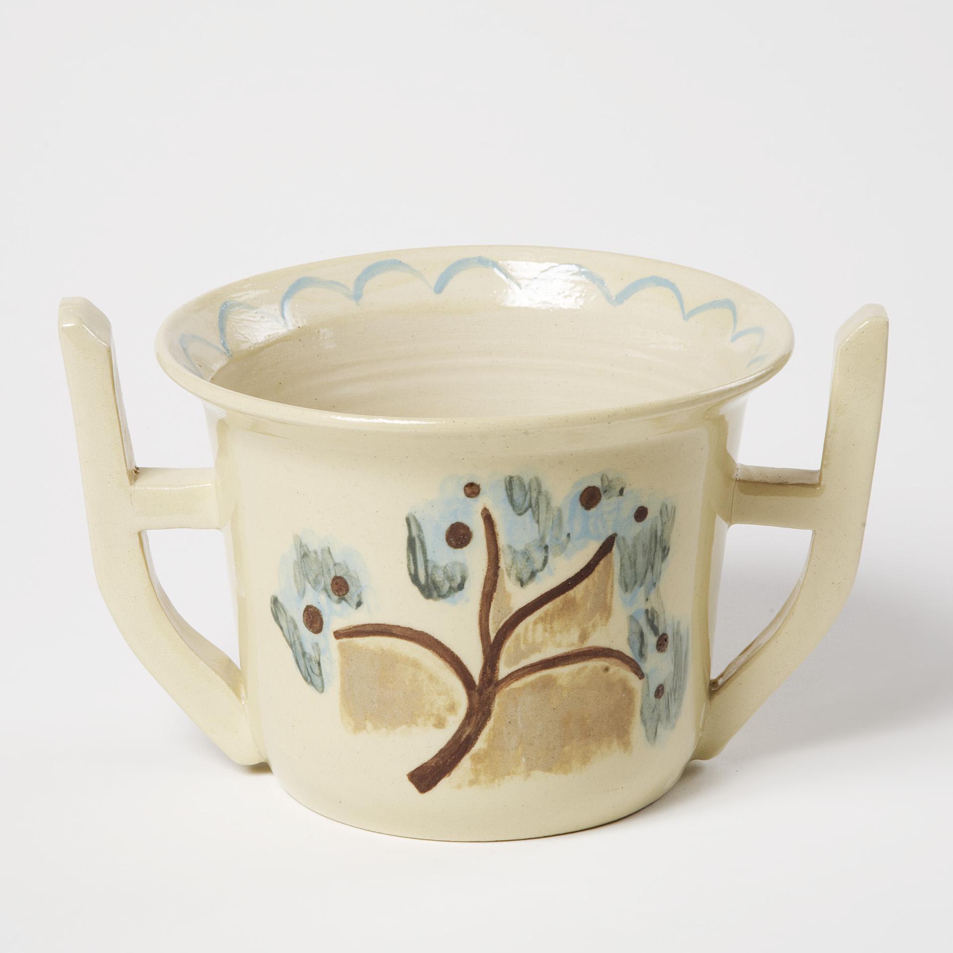 "Keramik ""Noldes beigefarbener Blumentopf"""